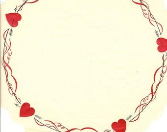 Baker's Doily, Valentine's, Parchment, 1940s, Vintage