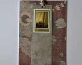 Bookmark Card featuring Boat Postage Stamp
