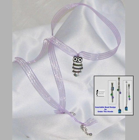 Clit Clip with Insertable Bead & Choker/Anklet Set Under The Hoode Whimsical Owl