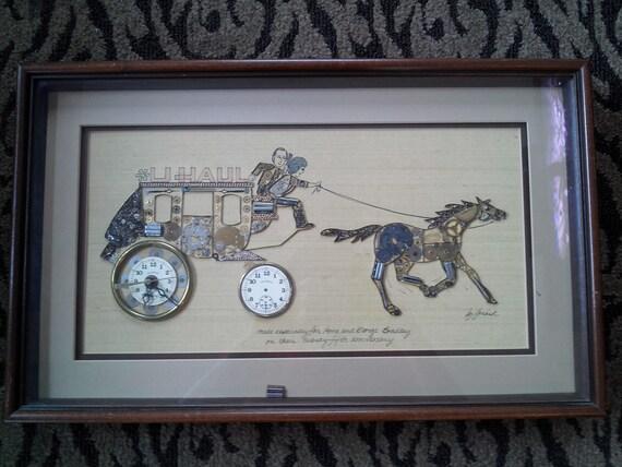 Vintage Girard Wall Clock Carriage Art Pocket Watch Wrist
