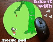 The Giving Tree Mouse Pad Shel Silverstein Mousepad for your computer on your desk in yo office