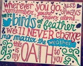 Oath Lyric Art