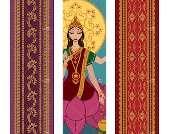 Lakshmi Tall Ornaments - Printable Digital Sheet
