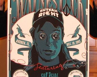 Inspired Waynestock Concert Poster screenprint
