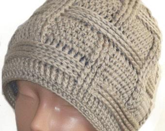 Slouchy Beanie Slouch Hats Oversized Baggy Cabled Hat Fall Winter Accessory Men Women Teens Girl Boy Wool Beige