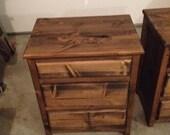 Rustic Wooden Nightstands-handmade