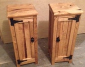 Handmade Wooden Rustic Accent Tables.