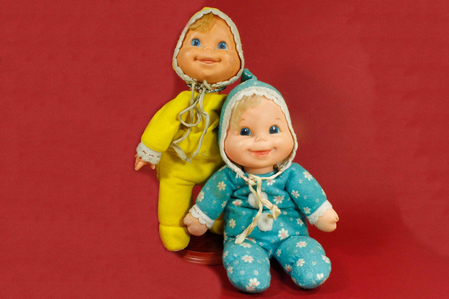 Vintage Mattel Booful Bean Bag Baby Doll Set Of Two Daisy