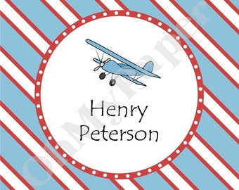 Airplane Gift Tags/Stickers - Set of 24