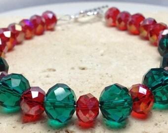 Christmas holiday festive bracelet