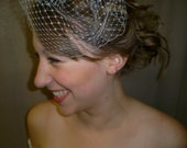 Birdcage Veil -Small 9 inch Wedding Veil Blusher