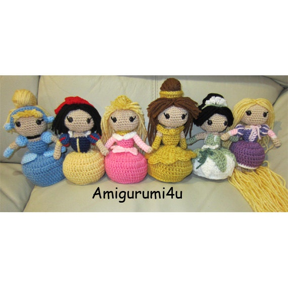 Amigurumi Disney Princess : Disney Princess Amigurumi Crochet Doll Cinderella by ...