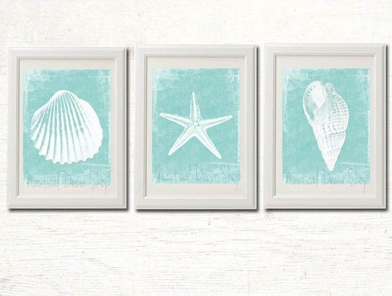 Printable Beach Decor Bathroom Instant By NauticalDecorShop