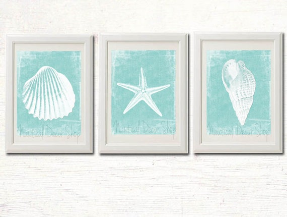 Coastal Wall Decor: Printable Beach Decor Bathroom Instant By NauticalDecorShop