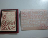 Homemade blank card with envelop. Definition of Love