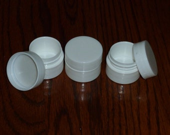 25 New Empty .25 (1/4) oz (7ml) WHITE LIP BALM Carmex Cosmetic Cream Jars containers