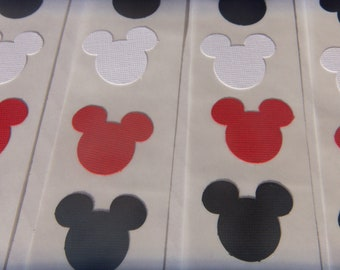 50 Mickey Mouse Stickers in Black, White, & Red Mix