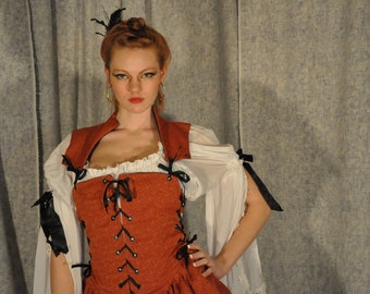 Pirate Wench Costume Cosplay Bodice
