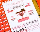 RETRO CAMERA POLAROID Wedding Invitation Suite - Downpayment