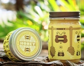 Honey Scented Soy Jar Candle
