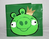 Angry Bird Pig Duct Tape wallet