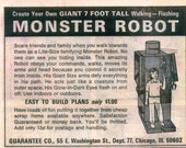 Create Your Own Giant 7 Foot Tall Walking Flashing MONSTER ROBOT