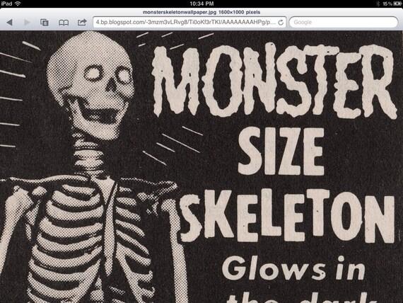 "Halloween Decoration..Monster size 7 feet tall ""SKELETON""  Glow in the dark eyes."