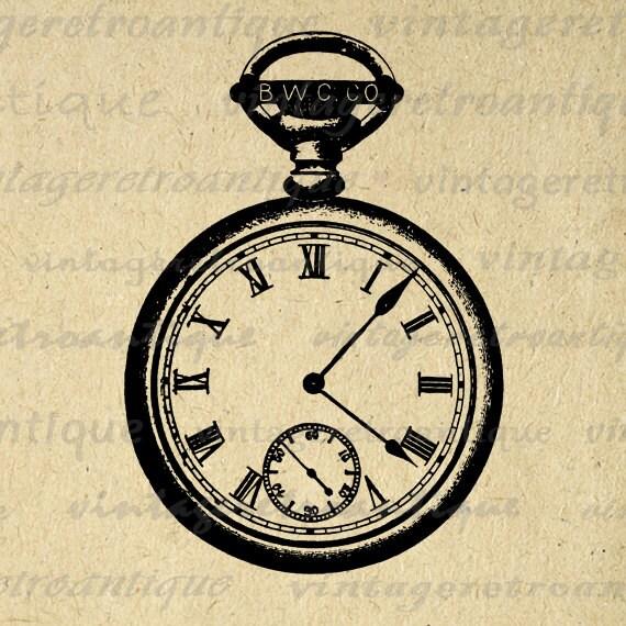 pocket watch clipart - photo #46