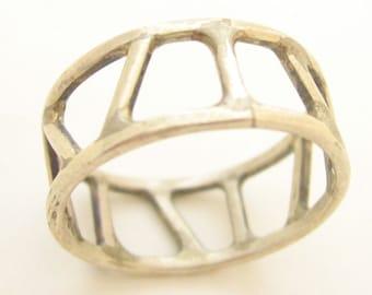 Geometric Sterling Silver ring OOAK