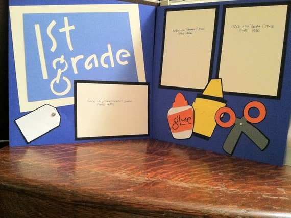 1st Grade Pre Made 12 x 12 Double Page Layout