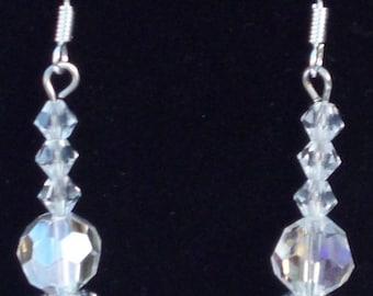 Beaded Swavorski Dangle Earrings