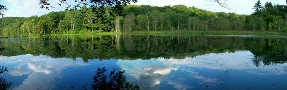 10x25 lake reflection photo