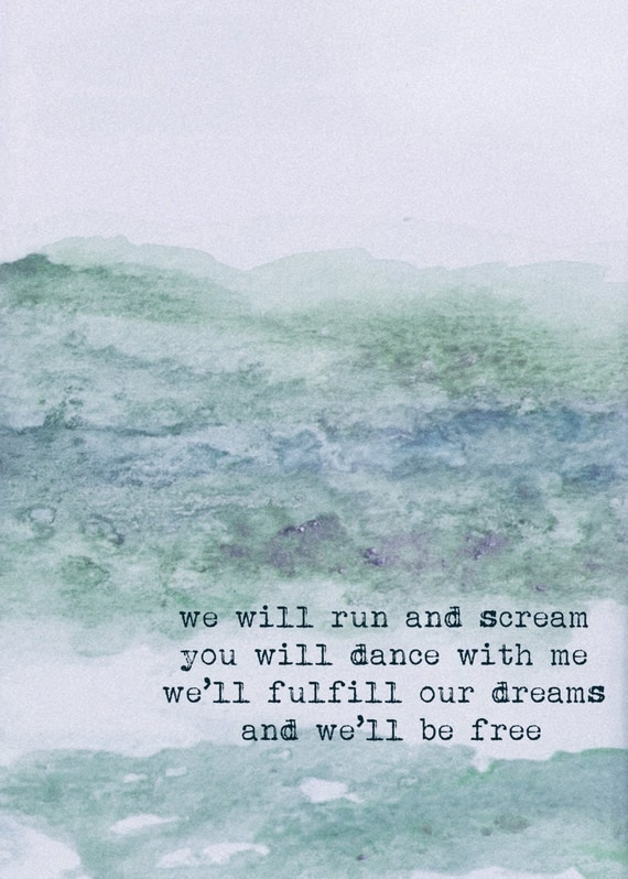 Fulfill Our Dreams- Mumford Print