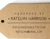 LARGE pre inked business card stamp from USA for gift tag, custom address stamp, eco friendly custom address stamp with proof - Stamp d8-3