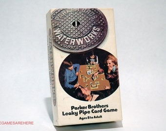 Waterworks Leaky Pipe Card Game Parker Brothers 1972 COMPLETE (read description)
