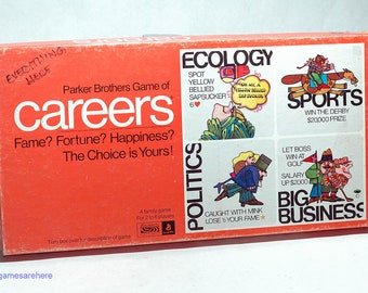 Careers Game from Parker Brothers 1971 COMPLETE (read description)