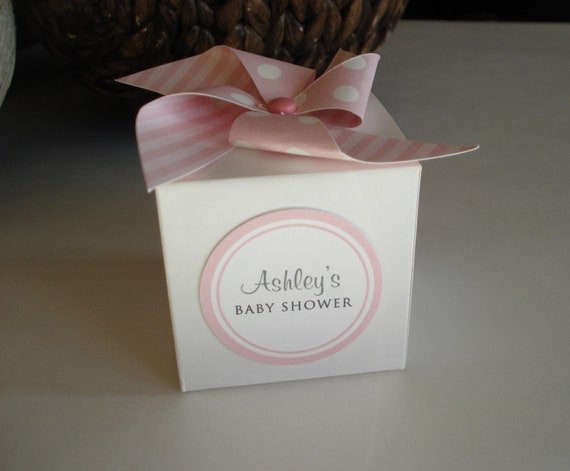 30 baby shower favor boxes personalized girl baby shower box with pink