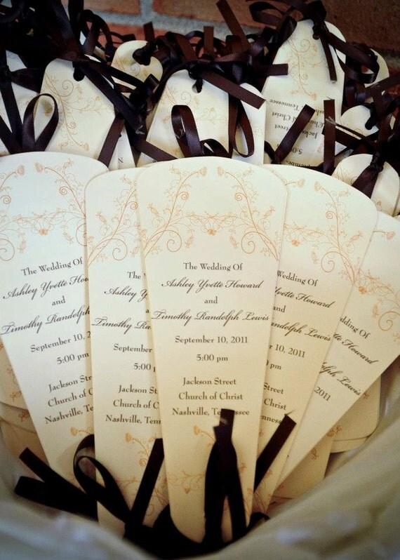 Wedding Program Fans By 2SimplyImagine On Etsy