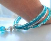 """The """"Beach Angel"""" bangle bracelets with Angel charm"""