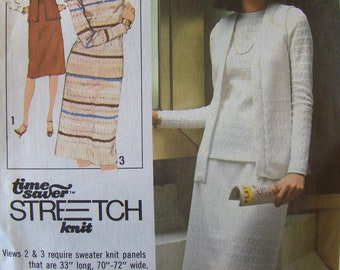 1970s Vintage Sewing Pattern  Simplicity  8454  Miss Size 8-10-12  Vest Skirt and Tops