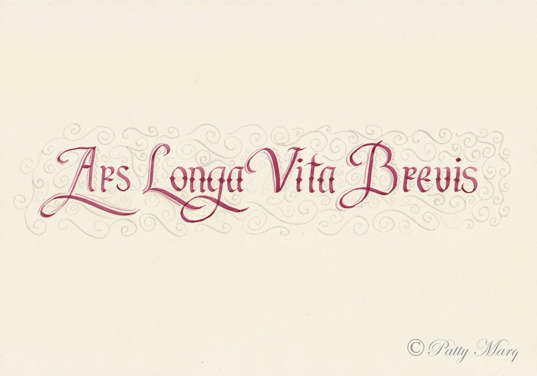 ars longa vita brevis in calligraphy