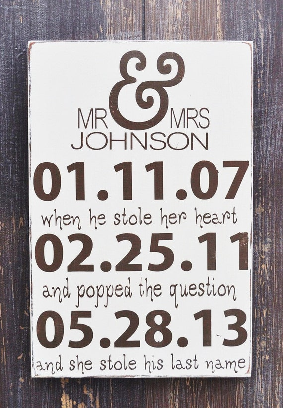Personalized wedding sign engagement gift wedding gift like this item negle Images