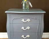 Grey French Provincial nightstands