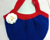 Red, White, and Blue Crocheted Purse
