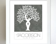Custom Family Tree Gift / Personalized Anniversary Gift for Mom and Dad / 8x10 Home Decor Wall Art Poster