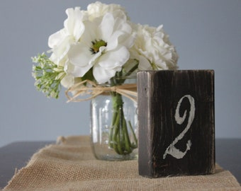 Rustic Wood Table Numbers, Shabby Chic Wedding Decor Set of 22