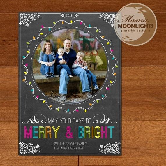 Items Similar To Merry And Bright Modern Printable Holiday
