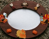 Happy Thanksgiving hand painted 4x6 wood picture frame