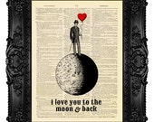 I Love You to the Moon and Back Unique WEDDING Gift idea First ANNIVERSARY Gift for Woman Unique Engagement Gift for Her Girlfriend Wife 412