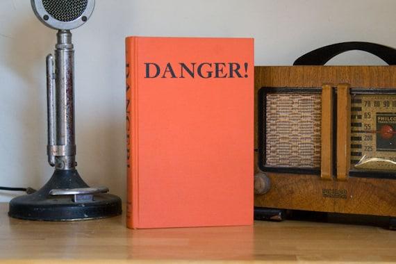 Bright Orange DANGER Outdoor Living Book - home decor, fun,